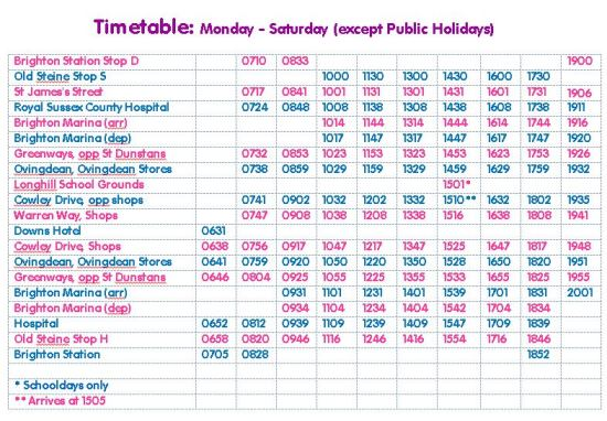 52 Timetable - Sept 2013 small