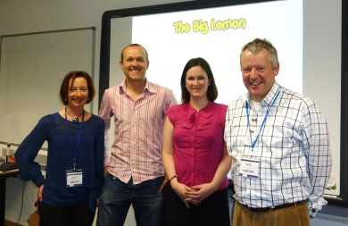 Shirley, Tom, Sophie and Clive at the first BACA Entrepreneurship Club event