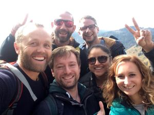 The Big Lemon Solar Bus Retreat Team Selfie